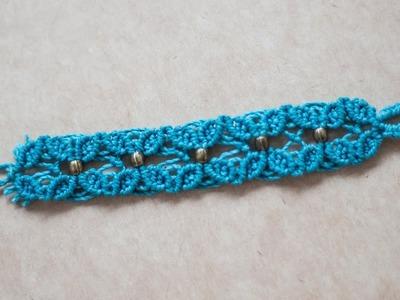 Pulseras de hilos ancha  macrame facil   easy bracelet macrame