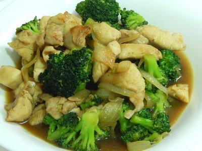Receta de brócoli y pollo con salsa de soja