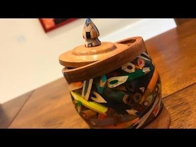 Arte con lápices de madera