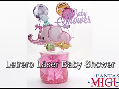 Centro de Mesa con Elefantito para Baby Shower
