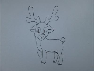 Cómo dibujar un reno de Navidad