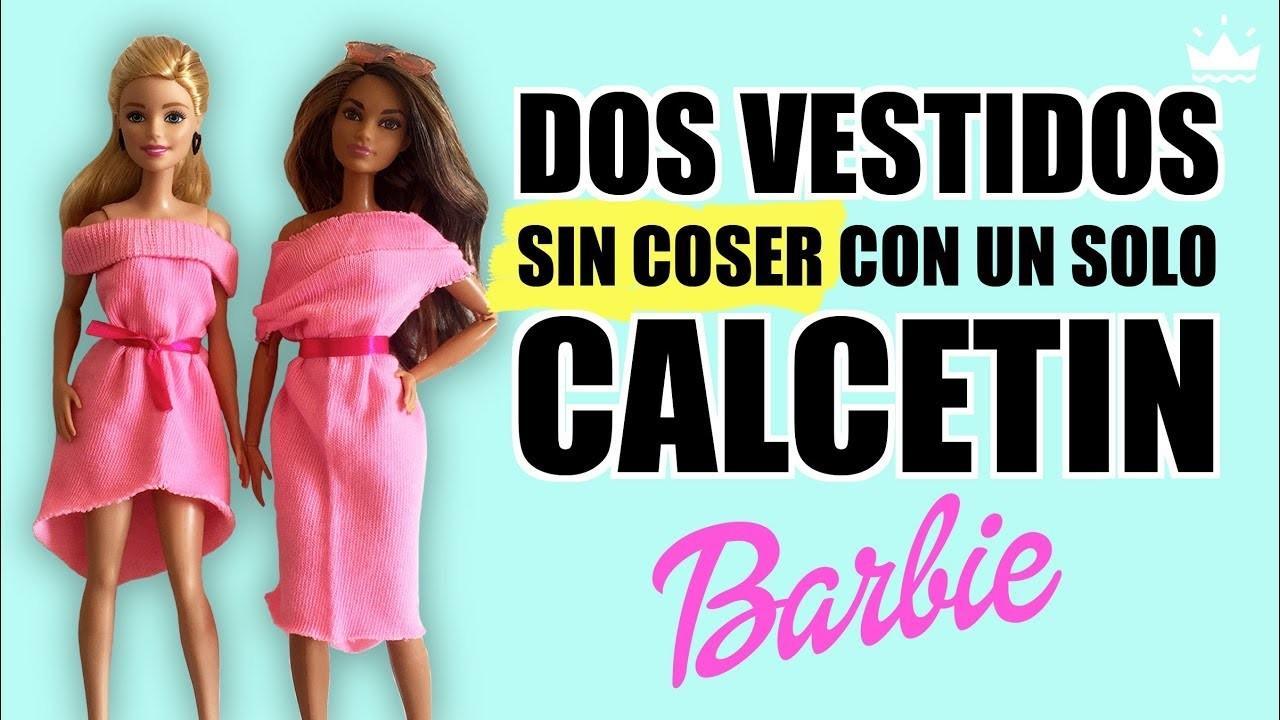 Cómo Hacer 2 Vestidos Para Barbie Sin Coser Con Un Solo