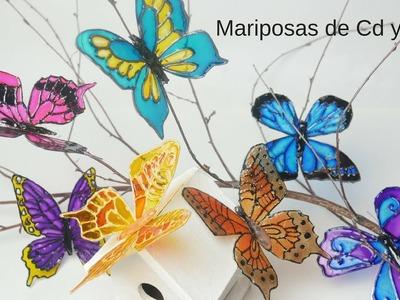 ????Como Hacer Mariposas con Cd´s y DVD´s. Muy Fácil y divertido
