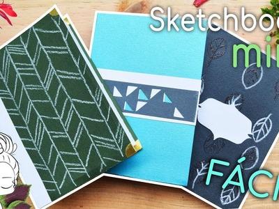 Como hacer mini sketchbook