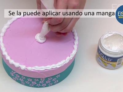 Como hacer texturas y relieves con pasta de modelar?