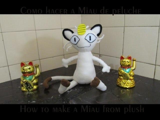 Cómo hacer un pokémon Meowth (Miau) de peluche