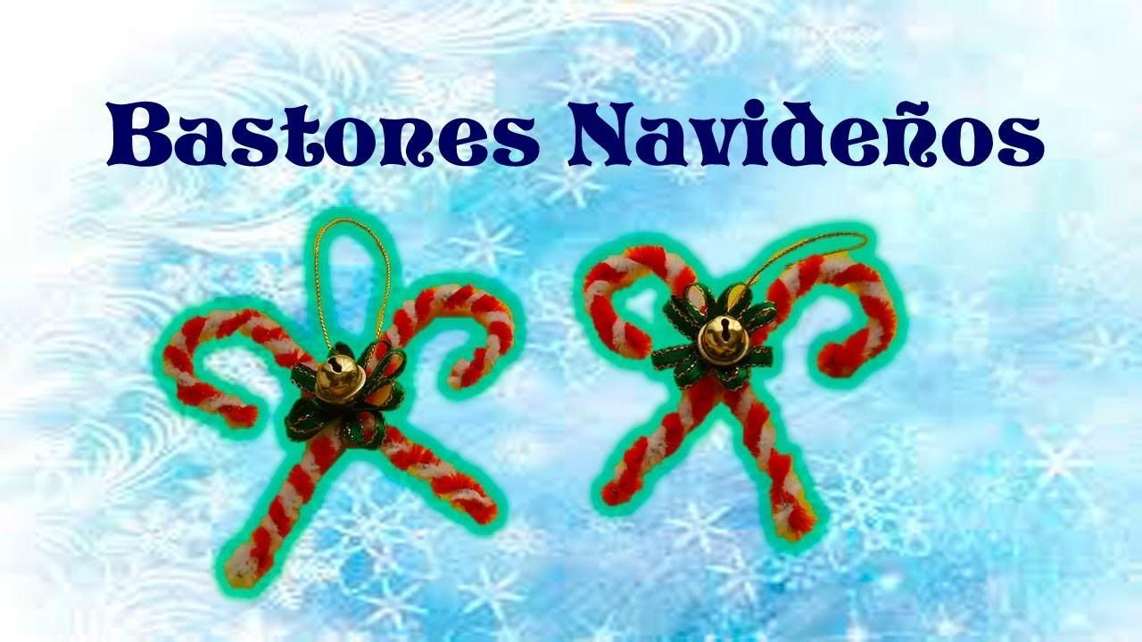 DIY | Bastones navideños con Limpiapipas | Decoración | PumitaNegraArt????