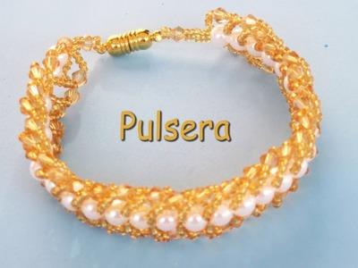 DIY - Pulsera espiga dorada - DIY - Golden tang bracelet
