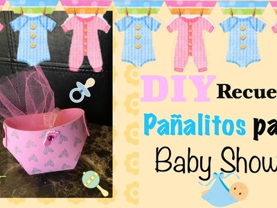 DIY Recuerdos de Pañalitos Para Baby Shower. DIY Baby Shower Party Favors