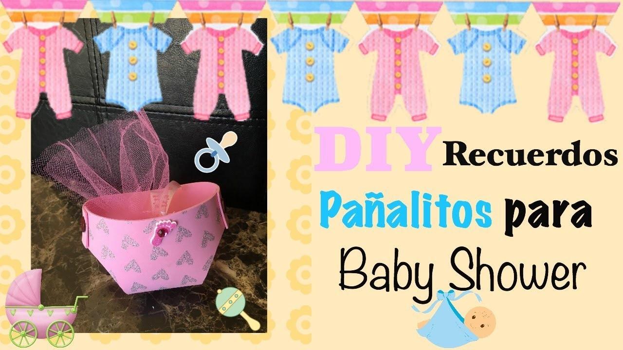 DIY Recuerdos de Pañalitos Para Baby Shower. DIY Baby Shower Party Favors
