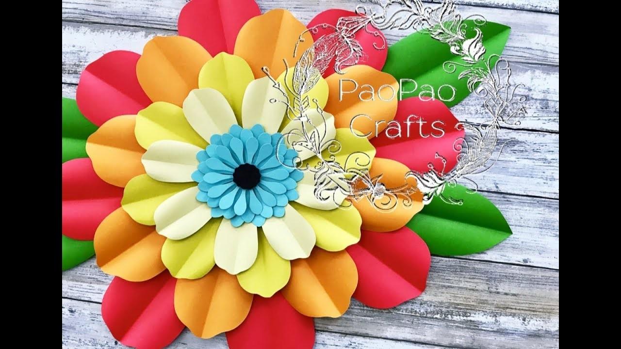 FLOR GIGANTE DE PAPEL | MOLDES GRATIS | HOW TO MAKE PAPER FLOWERS