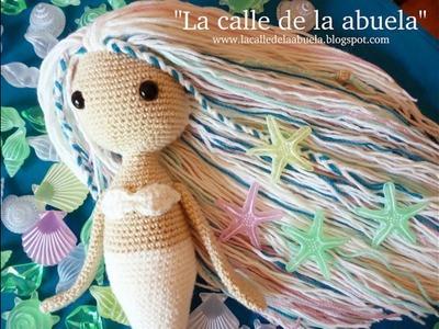 """La sirena Blanca"". ""Blanca, the mermaid"""