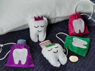 Manualidad | Bolsita para el ratón de los dientes | Guarda dientes de leche