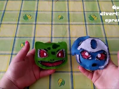 Mini peluches Pokémon Absol y Bulbasaur