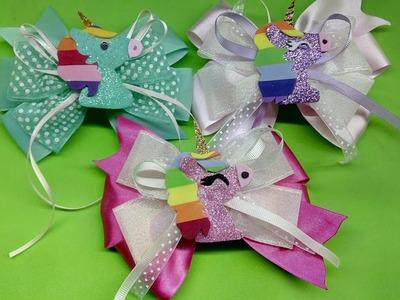 Moño Unicornio. petición. how to make a bow