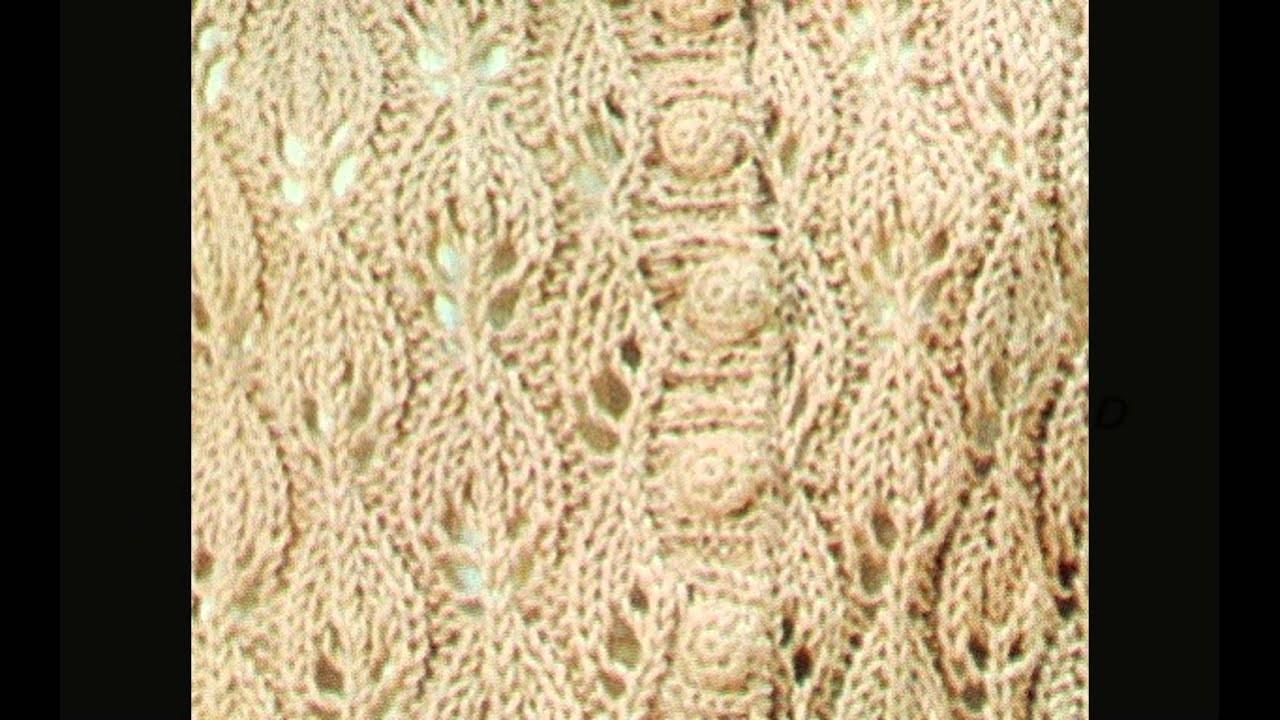 Patrón Para tejer Chaleco con Botones a 2 Agujas