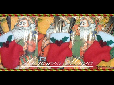 Porta Cubiertos Guante Navideño( Christmas Glove Holder )