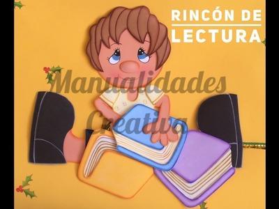 Rincón de Lectura paso a paso - Craft DIY manualidad escuela en foamy.goma eva.microporoso