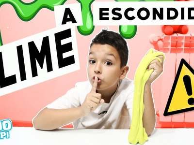 SLIME A ESCONDIDAS DE MAMA | Como Hacer SLIME en SECRETO | NeNo & PaPi |