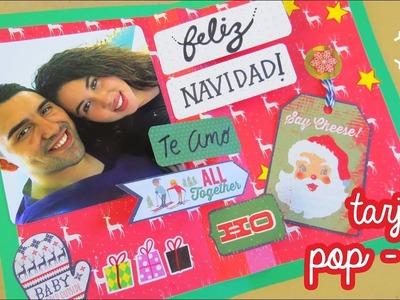 Tarjeta navideña pop-up para novio ♥♥ !!
