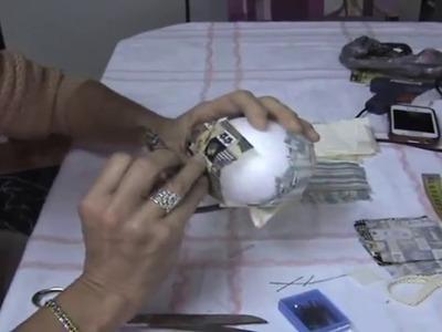 TUTORIAL Bola de adorno de tela sin coser  .PATCHWORK
