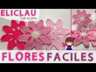 Una Flor super fácil | A super easy flower | EliClau