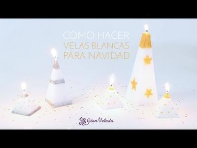 Velas blancas para Navidad