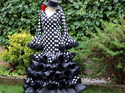 Vestido flamenco de mujer 1ª parte, Como hacer un vestido flamenco.