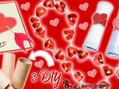 3 Ideas para San Valentín ❤ Utilizando rollos de papel higiénico