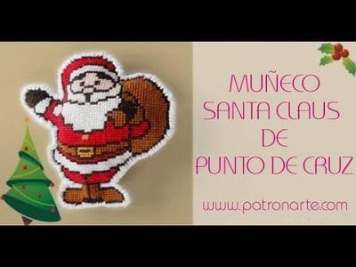 Adorno Santa Claus de Punto de Cruz