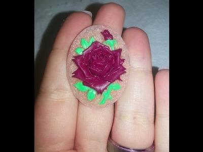 Anillo acrílico con molde.  Acrylic ring mold