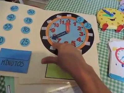 Aprender a leer el reloj -  preescolar. homeschool