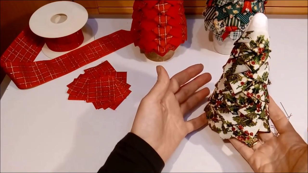 Arbol de Navidad de tela plegada