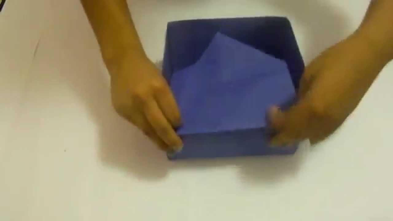 Caja de cartulina, paso a paso - fácil y barato