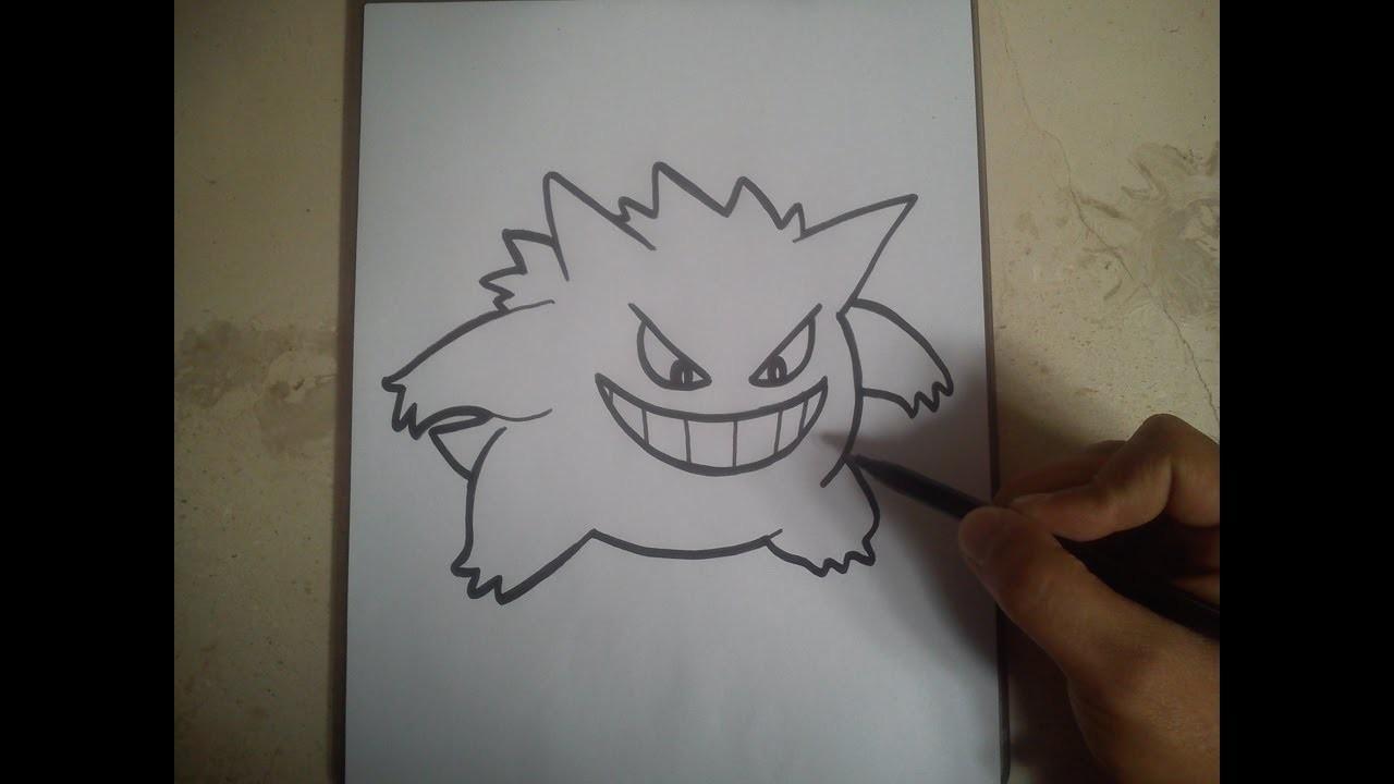 COMO DIBUJAR A GENGAR - POKEMON. how to draw gengar - pokemon