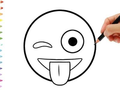 Como Dibujar un Emoji Rápidamente   ???? ???? ???? Dibuja y colorea un Emoji