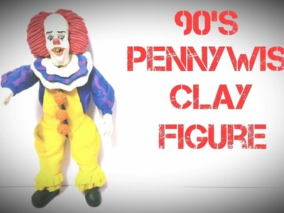 "COMO HACER A PENNYWISE DE LOS 90' ""ESO"". HOW TO MAKE 90's PENNYWISE CLAY FIGURE ""IT"""
