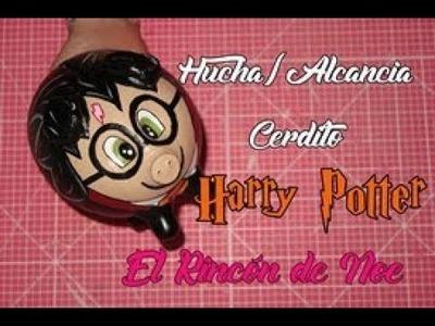 COMO HACER HUCHA CERDITO HARRY POTTER. ALCANCIA CERDITO HARRY POTTER El Rincón de Noe