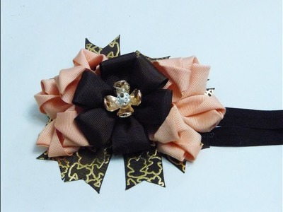 Como Hacer lazo de cintas para Niñas, How to make ribbon bow for girls, Manualidades la Hormiga
