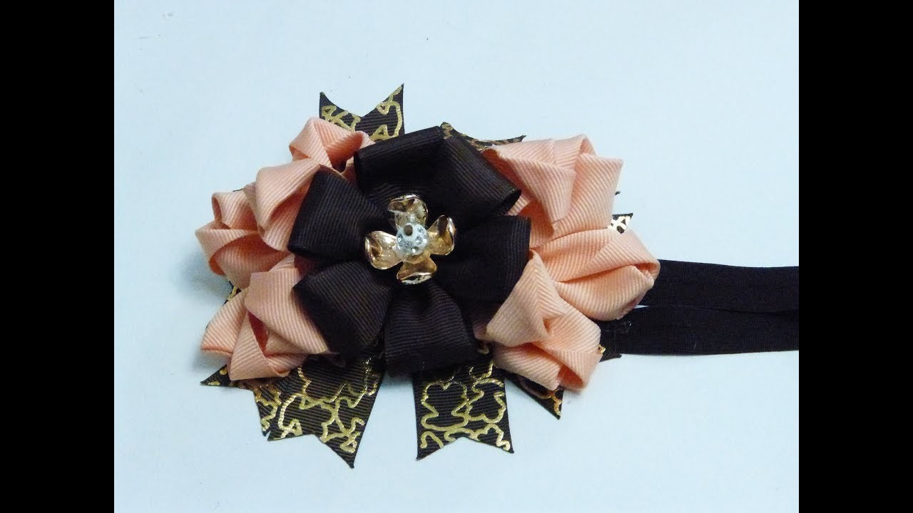 Como Hacer lazo de cintas para Niñas, How to make ribbon bow for girls, Manualidades la Hormiga