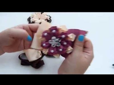 Como Hacer lazos de cinta paso a paso , How to Make a Ribbon Bun