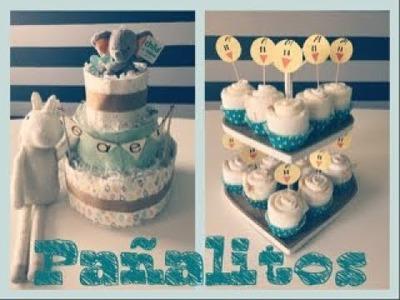 Cómo hacer un Pastel y unos cupcakes de pañales