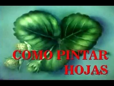 COMO PINTAR HOJAS DE FRESA TECNICA HUMEDO