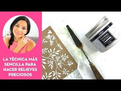 Cómo poner un stencil con pasta de textura⎮#30DST día 18