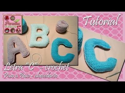 Crochet letra C - abecedario a crochet paso a paso