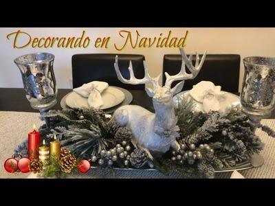 Decoracion de Navidad.Ideas como decorar la mesa del Comedor en christmas.DIY. christmas