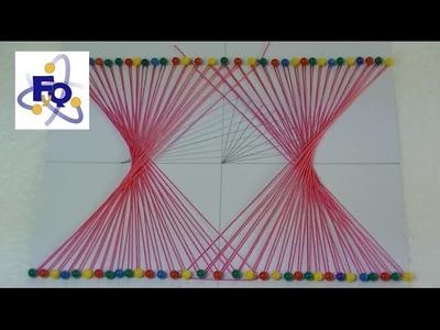 Dibujar una hipérbola con hilos