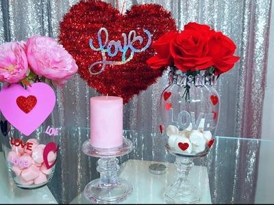 Diy ????dollar tree ????????Como hacer floreros para el dia del amor ????????????