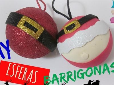 DIY esferas barrigonas de Santa rápidas fáciles y bonitas!. ESFERAS ORIGINALES