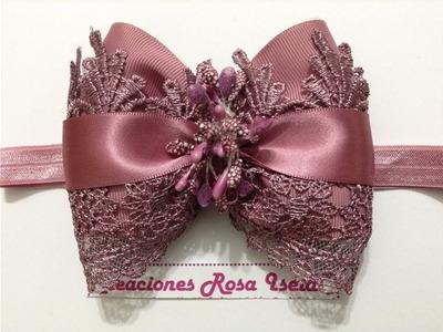 Elegante y sencillo moño en tiara VIDEO No.544 creaciones rosa isela